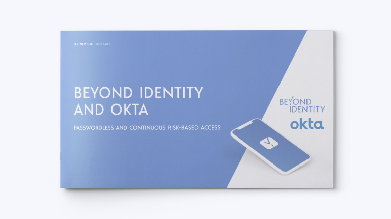 beyond identity and okta solution brief cover