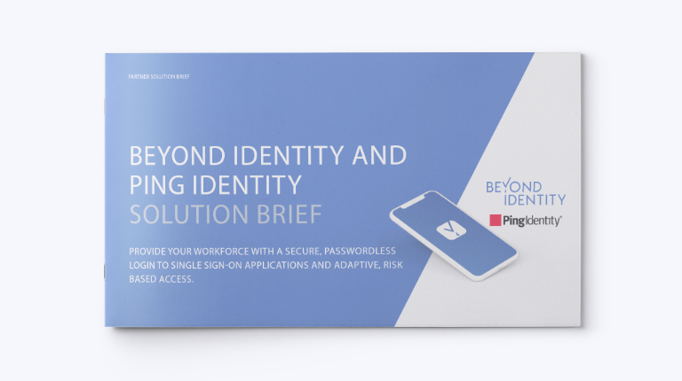 beyond identity and ping identity solution brief cover