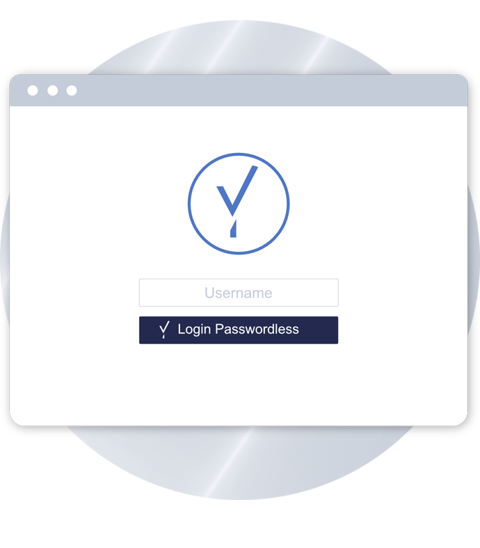 Passwordless Login Form on tablet screen